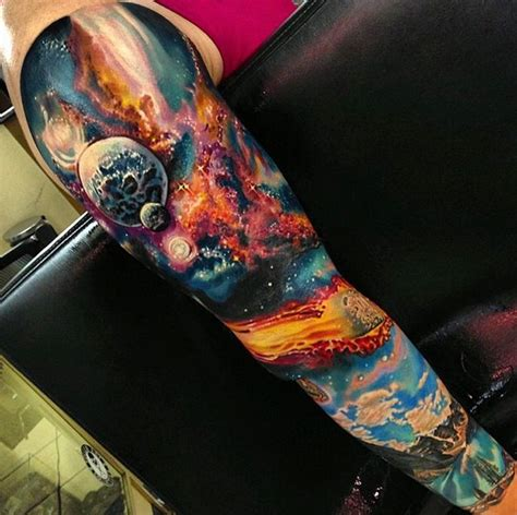 space sleeve tattoo space sleeve рукав pinte