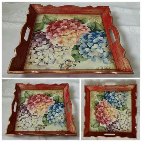 Decoupage Tray Ideas - 371 best images about traies on