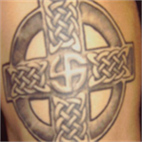 cross tattoo racist gallery for gt white supremacy cross tattoo