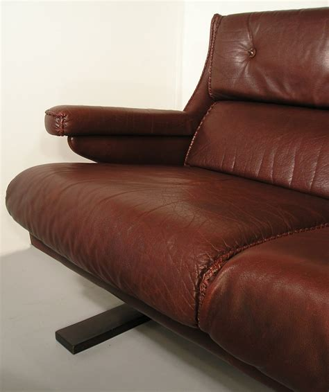 leather settees uk hayloft mid century danish rosewood leather settee sofa