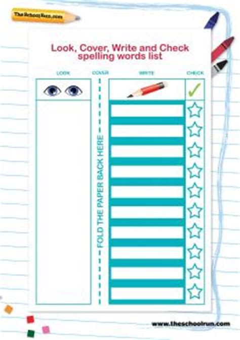 5 Lists To Look 2 by Look Cover Write Check Explained For Primary School