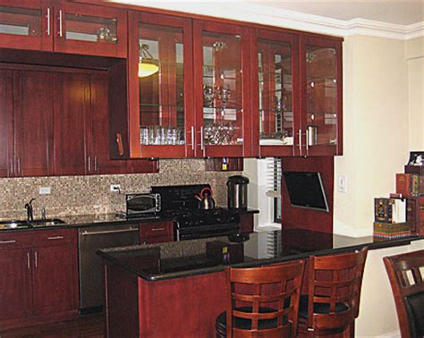 Installing Hardware On Kitchen Cabinets glass door kitchen cabinets add striking touch to the