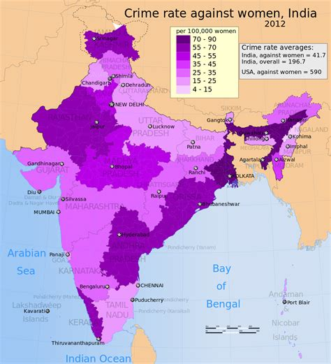 Criminal Record Map File 2012 Crime Rate Against Per 100000 In India By Its States And Union