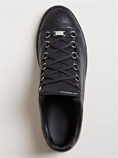 balenciaga mens arena trainers in for black lyst