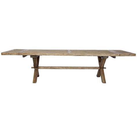 florence round extendable reclaimed elm dining table farmhouse recycled timber extension dining table 2 4m to