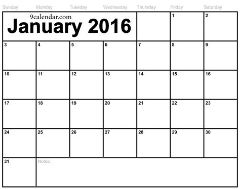 printable january 2016 day planner january 2016 calendar printable pdf 2017 printable calendar