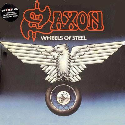 Kaos Fangkeh Saxon Wheels Of Steel saxon wheels of steel 2 lp reissue nwobhm vinyl