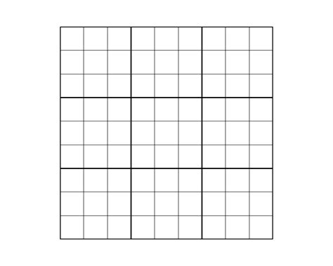 printable sudoku graphs the gallery for gt blank numbered grid
