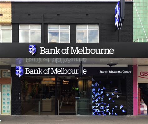 bank of melbourne shop front signage in melbourne rhino signmakers