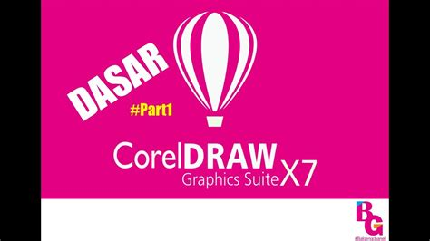 tutorial dasar coreldraw x7 tutorial dasar corel draw x7 part 1 youtube