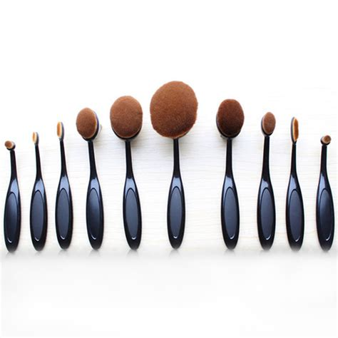 Make Up For You Brush Set oval brush 10 set my make up brush set us
