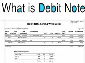 debit note template excel format word document