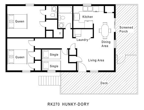 one story home floor plans cottage house plans single story