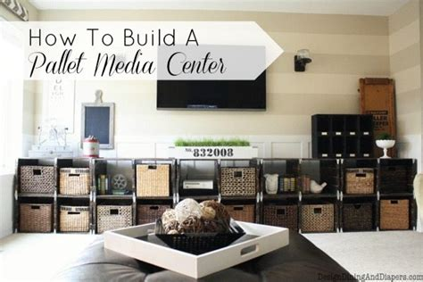 tutorial center design how to build a media center out of pallets taryn whiteaker