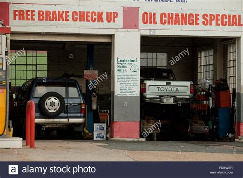 auto repair garage usa stock photo royalty free image