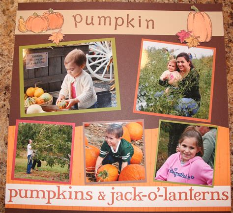 scrapbook layout ideas 5 photos pumpkin scrapbook layouts creative cucina