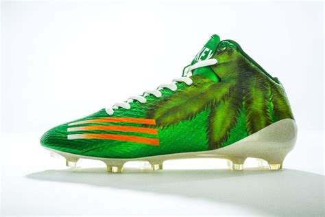 adidas unveils custom cleats  celebrate miami hurricanes
