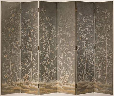 folding screen  bamboo motif
