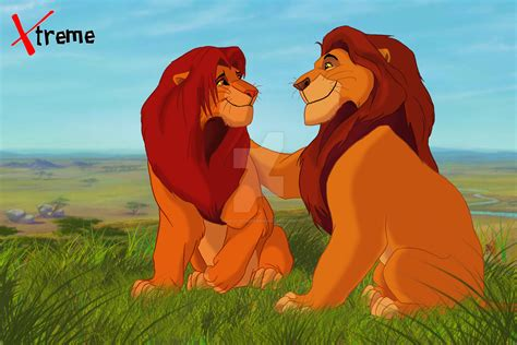 this is the lion kings simba and mufasa in real life the lion king mufasa and simba by diego32tiger on deviantart