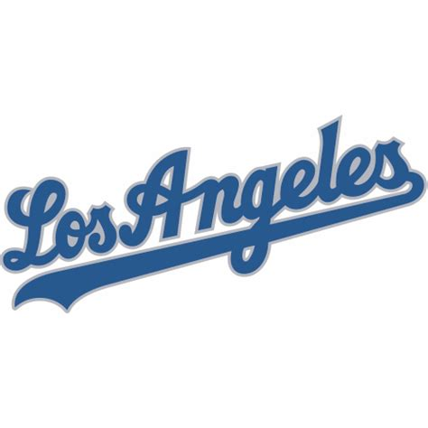 Softball Wall Stickers los angeles dodgers script logo decal sticker version 2