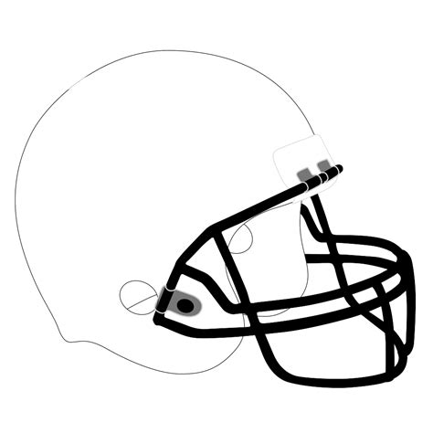 football drawing template blank football helmets clipart best