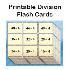 printable division flashcards with answers help your elementary school student practice division with