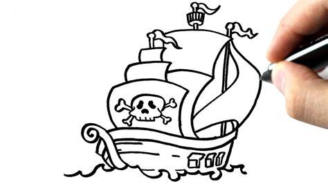 dessin de bateau facile a faire chris dessine un bateau pirate tutoriel youtube