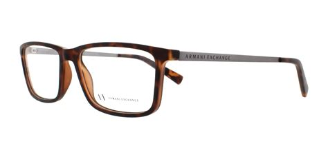 armani exchange eyeglasses ax3027 8029 matte tortoise 55mm