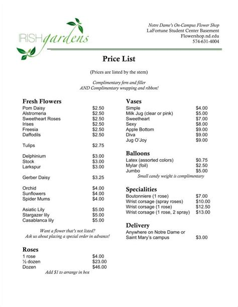 business price list template 20 price list templates word excel