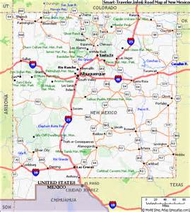 where is new mexico on the map of united states map of new mexico