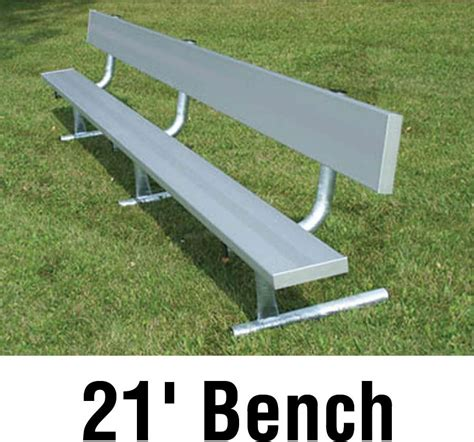 bench player aluminum player bench w backrest portable 21