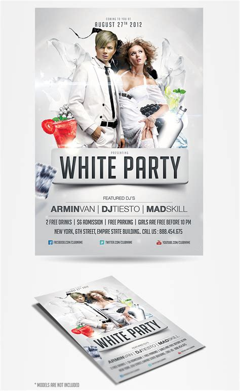 free all white flyer template white flyer template psdbucket