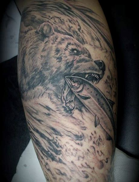 grizzly bear tattoo 60 designs for masculine mauling machine