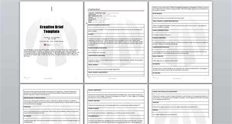 ogilvy creative brief template template creative brief template creative brief