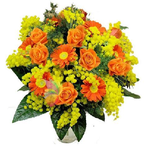 bouquet mimosa e fiori foto stelle arancio spediamo fiori dolci e regali a domicilio