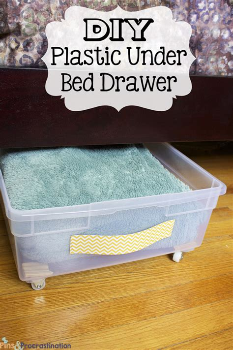 Under Bed Storage Diy Plastic Underbed Drawers Pins And Procrastination