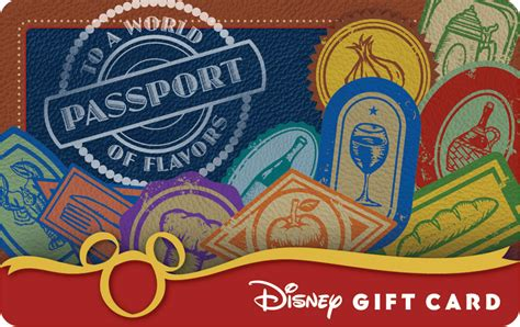 Disney Land Gift Cards - disney gift card is your passport to a world of flavors