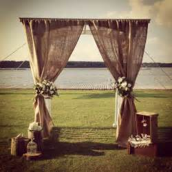 wedding altar decorations burlap altar wedding ideas