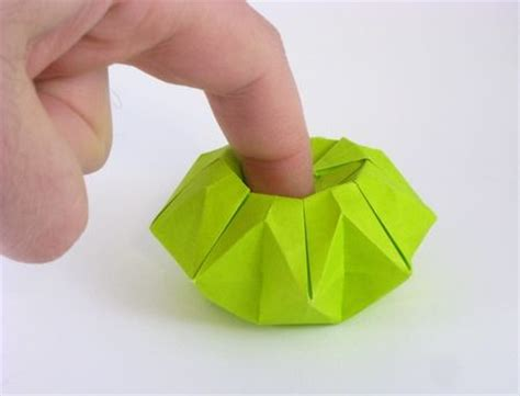 Origami Finger - origami finger pot by toshikazu kawasaki folded by