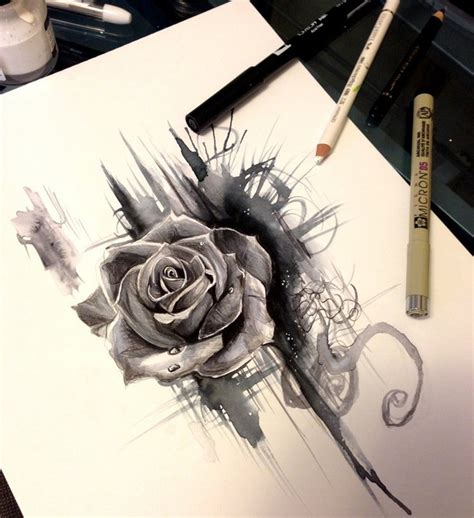 rose design by lucky978 drawing inspiration