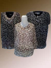 Baju Fashion Sifon Baju Atasan Lengan Pendek Ba04 baju wanita sifon mata mata