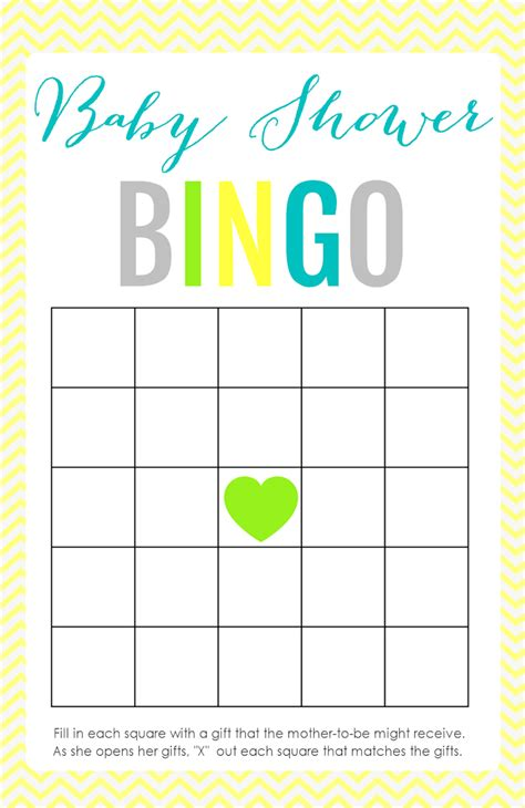 bingo baby shower card template free printable baby shower the creative