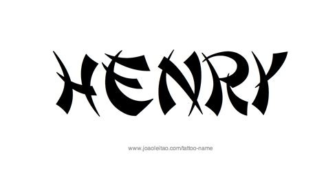 tattoo name henry henry name tattoo designs