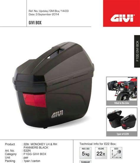 Box Givi E22 sidebox givi e22 plus breket ori enakans moto shop