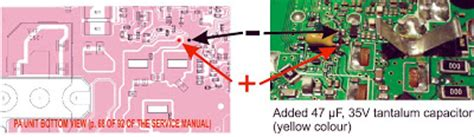tantalum capacitor bypass sv8ym update to the ic 7000 driver unit failure problem