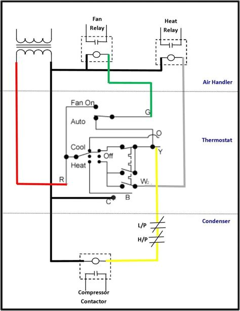heat thermostat wiring diagram diagram air conditioning thermostat wiring diagram for