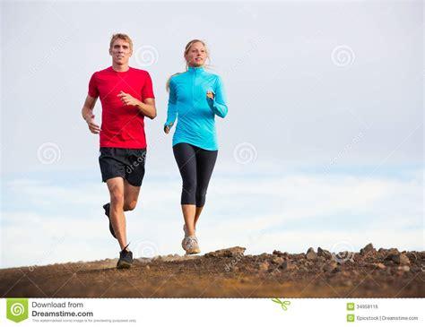 Joger Sport fitness sport running outside on trail stock photo image 34958116