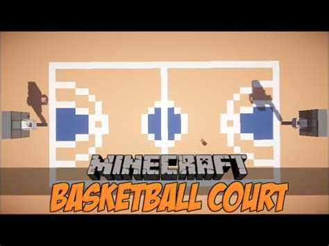how to make a basketball court in minecraft youtube