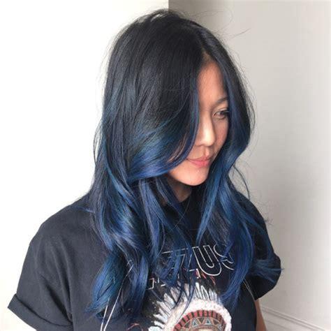 blue black hair and styles blue hair dye styles