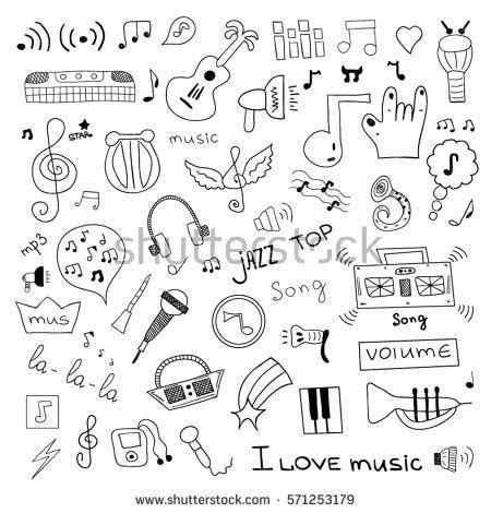 musical doodle free mp3 royalty free mp3 doodles icons seamless 208782886